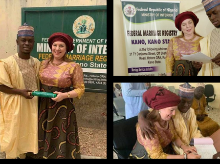 Photos From The Court Wedding Of 23-Year-Old Kano Man And His 46-Year-Old American Lover