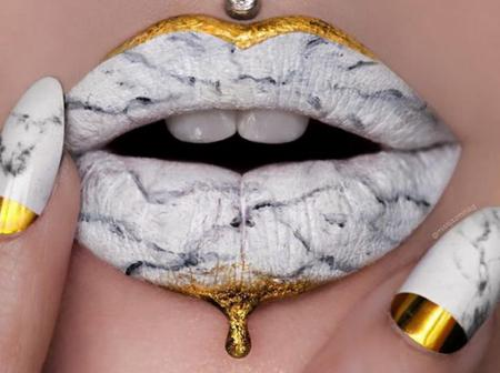MARBLE LIPS: The New Beauty Trend Breaking Social Media [PHOTOS]