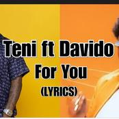 Lyrics Of For You By Teni Featuring Davido.