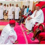 Photos Of El-Rufai Kneeling Before Obi Of Onitsha, Obasanjo, Atiku, Buhari, Tinubu & Others