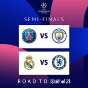 After Man City Won 4-2 and Real Madrid Won 3-1 on Aggregate, Check Their Next Team For UCL Semis