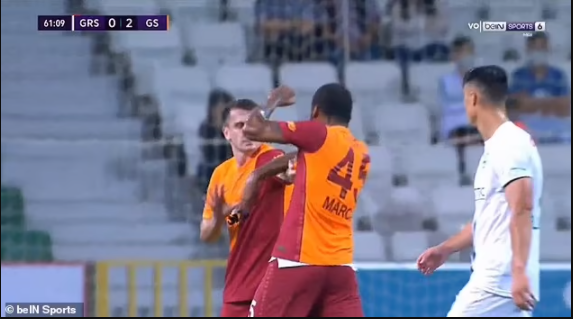Galatasaray defender Marcao facing a 10-game ban for headbutting and punching his own teammate (photos)