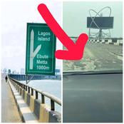See What Was Noticed In The Newly Reopened Third Mainland Bridge That Sparked Social Media Reactions