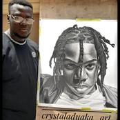Rema Decides To Reward Artist Who Spent 100 Hours Drawing Portrait Of Him