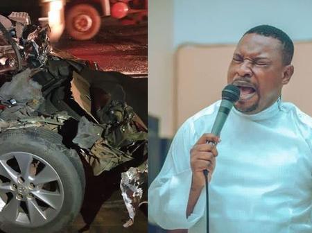 Famous Gospel Singer, Survives Ghastly Motor Accident {PHOTOS}