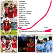 After Arsenal Won And Man United Drew, Check-Out The 16 Teams That Qualified For Today's UEL Draw