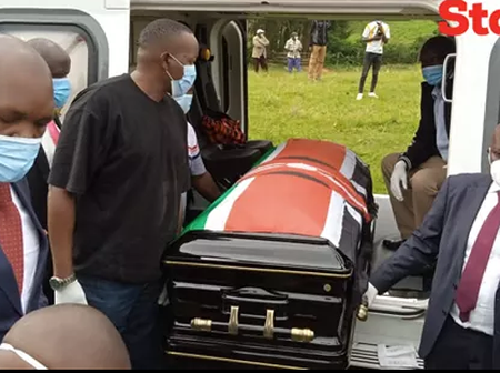 PHOTOS:Sombre Mood as Body of Late Nyamira County Governor Arrives in Borabu Constituency for Burial