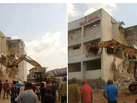 Imo State: Governor Uzodinma Destroys The Big Hospital Built By Rochas Okorocha During His Tenure