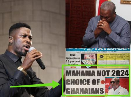 Kwame A-Plus Reacts To Newspaper Headline That Says John Mahama Isn't The 2024 Choice Of Ghanaians