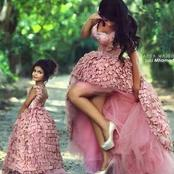 Stylish Mother And Daughter Matching Dresses