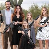 Black American Man Reacts To This Picture Of White Family Holding Guns, Read What He Said.