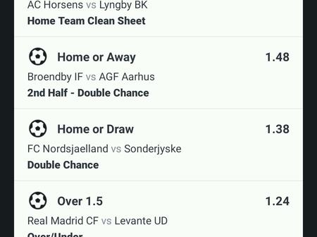 Afternoon 53 odds for free fixed Matches