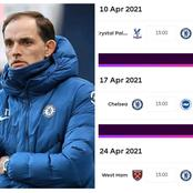 Chelsea's Fixtures For March and April That Might Move Them To Top 2 On The EPL Table