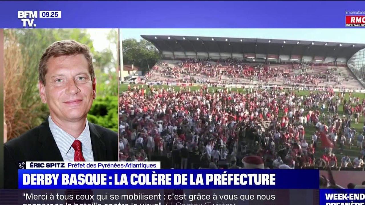 """Biarritz-Bayonne: """"Ça ne restera pas sans suite"""" prévient le préfet après le non-respect des règles sanitaires"""