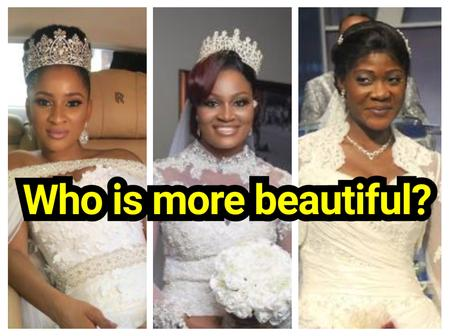 Check Out Photos Of 12 Nollywood Actresses On Their Wedding Day: Who Rocks It Best?
