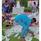Here Is The Pictures Of People Picking Money Like Nothing In The wedding Ceremony See Here