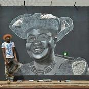 Man Displays Okonjo-Iweala's Image Made By His Cousin