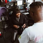 Zlatan shares moment he made Ms Banks smile during their studio section (Photos)