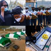 More Photos Of The Burial Ceremony Of Victims Of Military Helicopter As They Are Laid To Rest