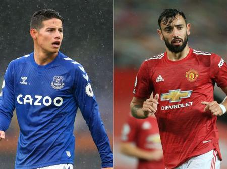 Who is better between James Rodriguez and Bruno Fernandes?