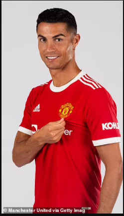 Manchester United release first photos of Cristiano Ronaldo in new home jersey after his return to the club