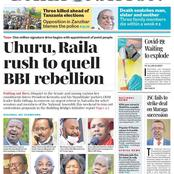 Wednesday 28th: Daily Nation And The Standard Newspaper Headlines About Raila And Uhuru