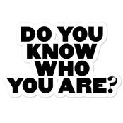 Know who you are, here is why : opinion