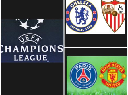 CHAMPIONS LEAGUE: See Tomorrow Champions League Fixtures And Who Chelsea And Manchester Will Meet