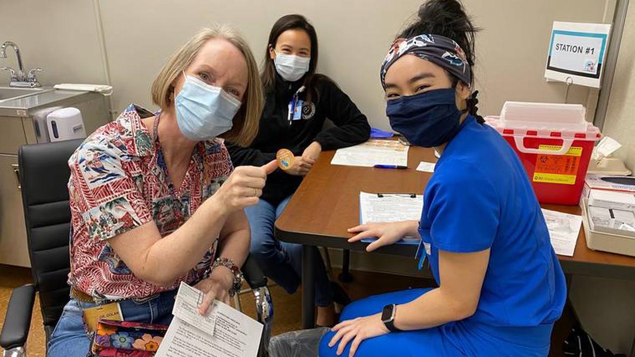 Hundreds vaccinated at HMC