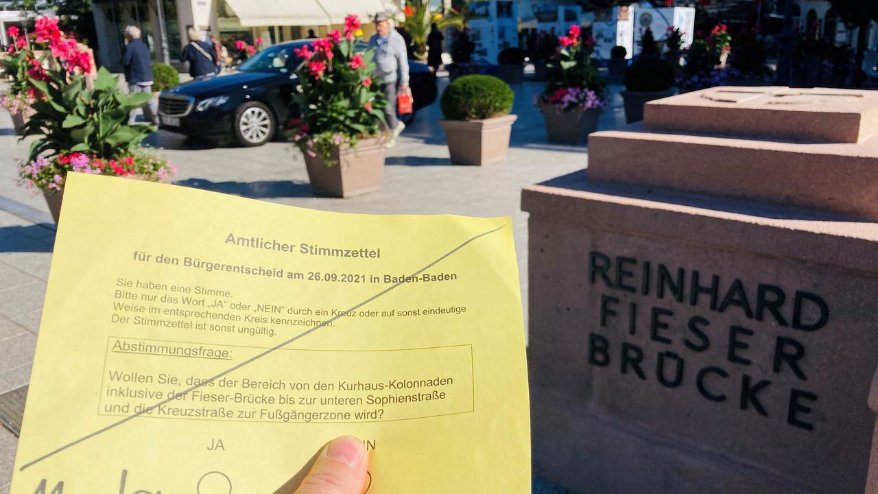 Streit um autofreie Fieser-Brücke und Kreuzstraße: Alles Wichtige zum Bürgerentscheid in Baden-Baden