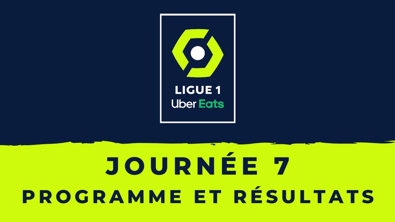 Calendrier Ligue 1 2021/2022 – 7ème journée : Programme TV et résultats