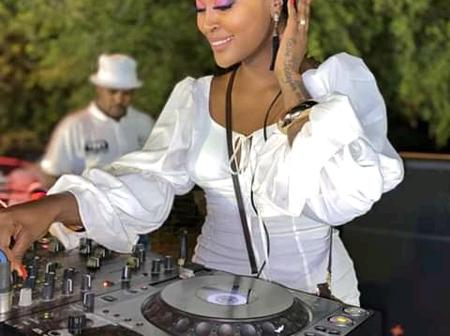 Fans Go Crazy For Dj Lamiez Holworthy All White Affair Dress
