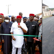 Check Out The New Road Commissioned By Senator Uzor Kalu In Abia State