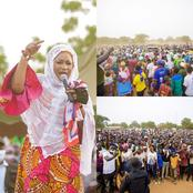 Election 2020: Samira Bawumia Pulls Massive Crowd As She Tours NDC's Strong Hold (Photos)