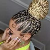 Inspiration : Topnotch Beautiful Ghana weave hairstyles you would love to try (Photos)
