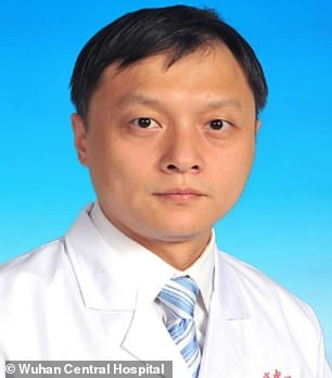 Dr Yi (pictured before falling ill) beat COVID-19 after doctors hooked him to a life-support machine  for 39 days