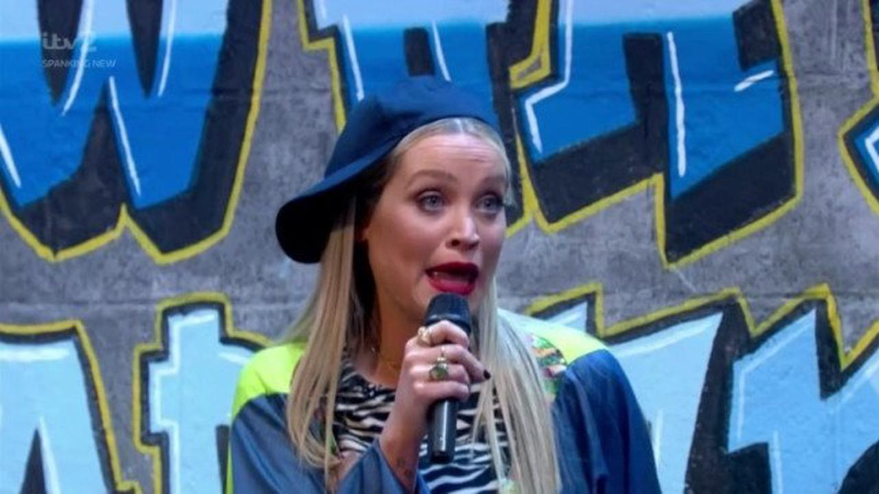 Celebrity Juice: Laura Whitmore shows off rap skills with rimming song