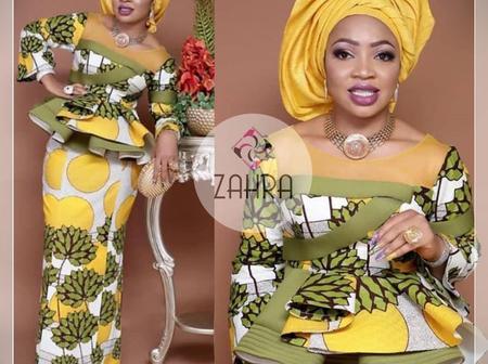 Trending And Elegant Ankara Skirt And Blouse Styles For Elegant Ladies