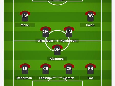 YNWA! Liverpool Fans Shouldn't Worry Again, Check Out The Lineup Klopp Will Use To Beat Leicester