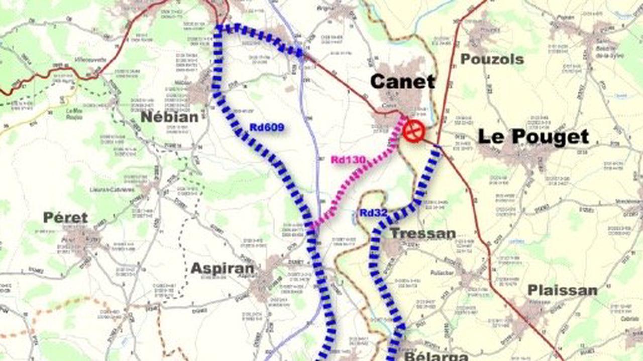 HERAULT - Poursuite des travaux sur le pont de Canet
