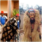 Mixed reactions on social media as a group of people elevated Phyno as a god in Igboland