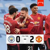 Man United stops Man City's winning streak.