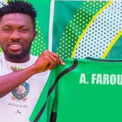 Aduana Stars defender Farouk Adams in the grips of police for knocking down a Police Officer.