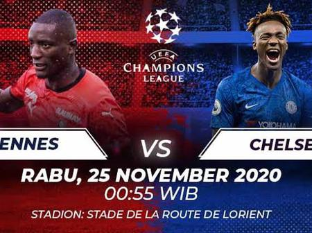 OPINION: 2 Reasons Why A Win For Chelsea In The UEFA Champions League Against Rennes Is Important.