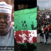 Finally! See What Atiku Said About The EndSARS Protest That Got Nigerians Really Talking [See Video]