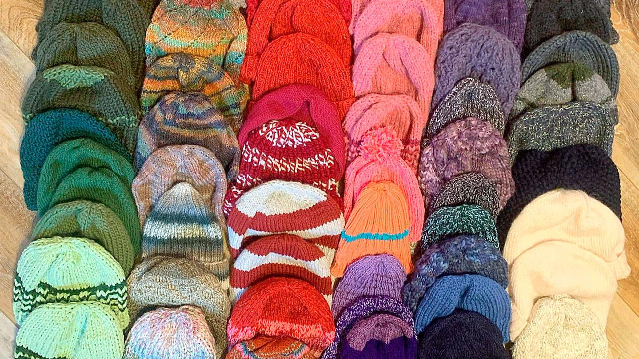 Brinnon, Quilcene knitters make caps for PUD workers