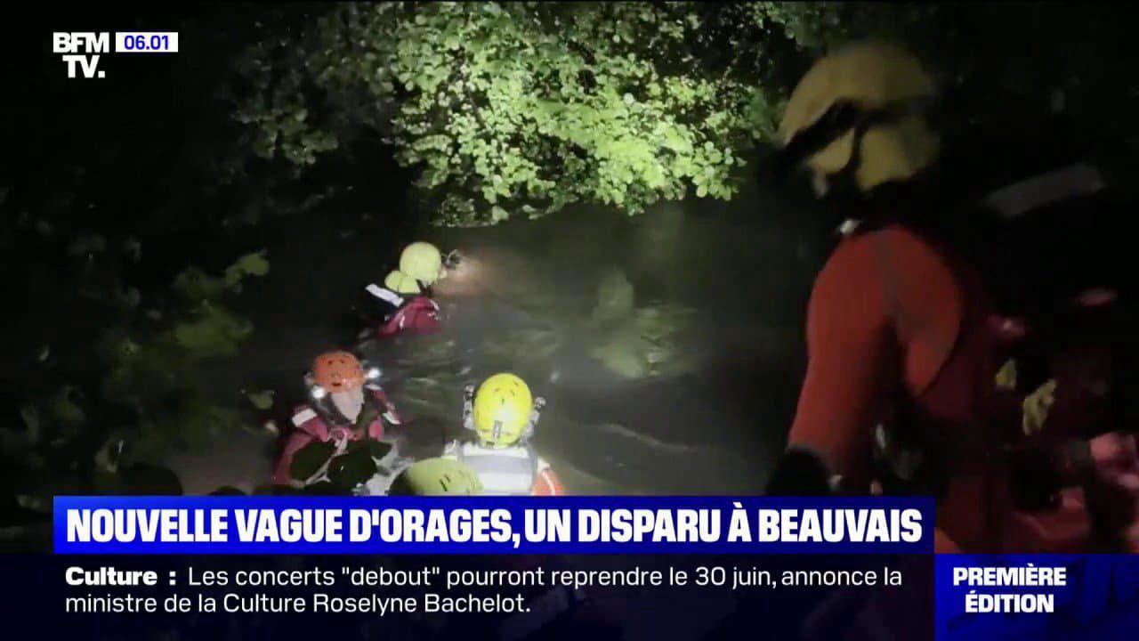 Une personne portée disparue à Beauvais où des pluies diluviennes se sont abattues