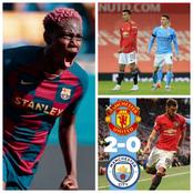 Check Out What Asisat Oshoala Said After Manchester United Won Manchester City (2-0)