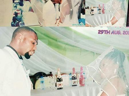 It Wasn't A Lavish Wedding But Still Beautiful- See The Flashback Wedding Photos Of Obofour And Wife