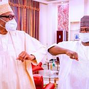 Reactions As Yahaya Bello Visits President Buhari